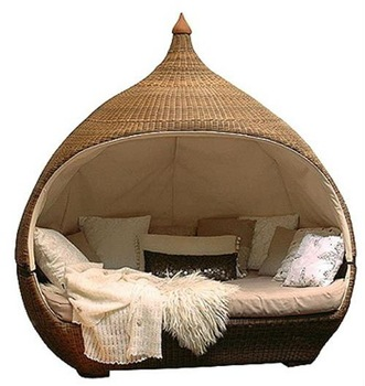 Outdoor Furniture Outdoor Round Wicker Lounge Bed - Buy Wicker .