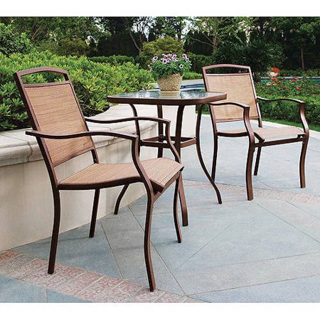Mainstays Sand Dune 3-Piece Outdoor Bistro Set for Patio and Porch .