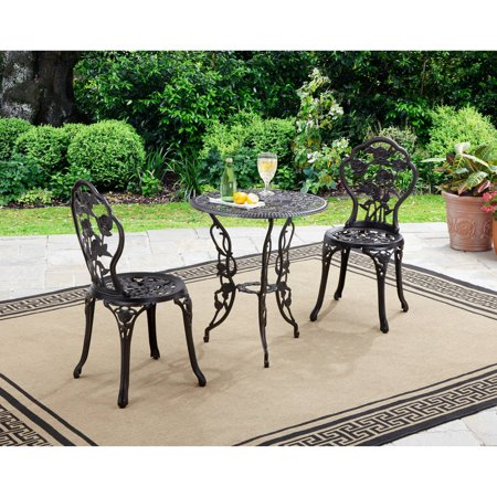 Better Homes and Gardens Rose 3 Piece Outdoor Bistro Set Only .