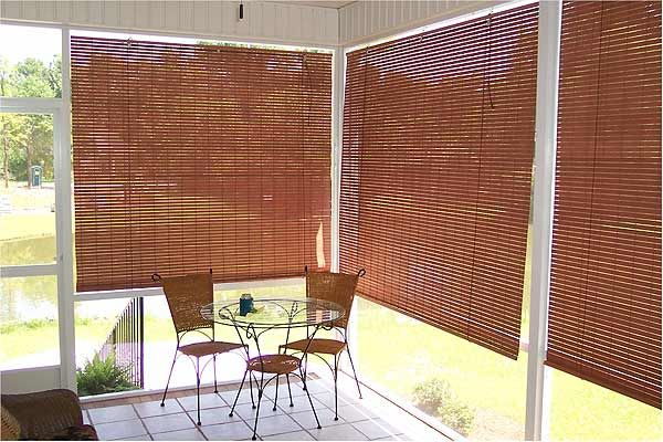 Outdoor Roll Up Shades For Decks | Basswood Roll Up Woven Wood .