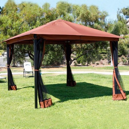 10' x 12' Outdoor Backyard Regency Patio Canopy Gazebo Tent, with .