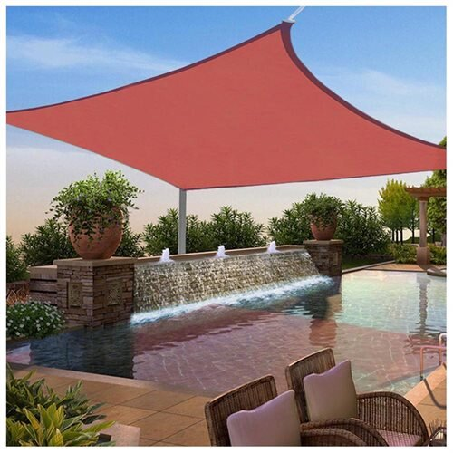 YescomUSA: 12x12 Ft Square Sun Shade Sail UV Top Cover Outdoor .