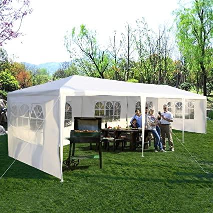 Amazon.com: Tangkula 10'x30' Outdoor Canopy Tent Heavy Duty Party .