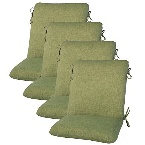 "Amazon.com : Set of 4 Outdoor Dining Chair Cushion 20"" x 38"" x 3 ."