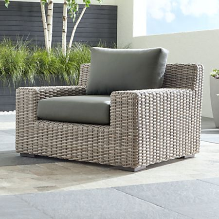 Cayman Outdoor Lounge Chair with Graphite Sunbrella Cushions + .