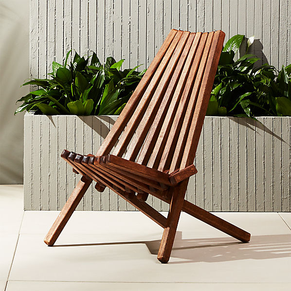 Maya Outdoor Wooden Chair + Reviews | C