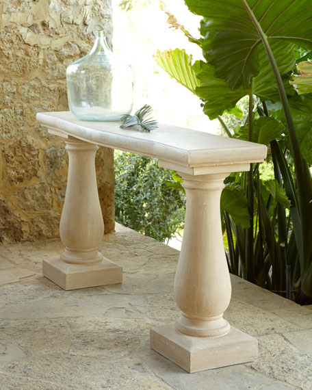 Double Pedestal Outdoor Console Tab