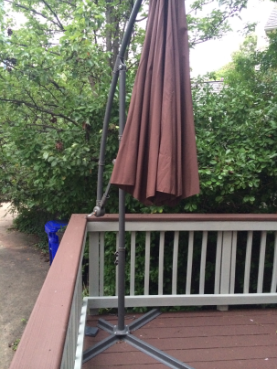 Mount a Deck Umbrella to Save Space   Home Automation Gu