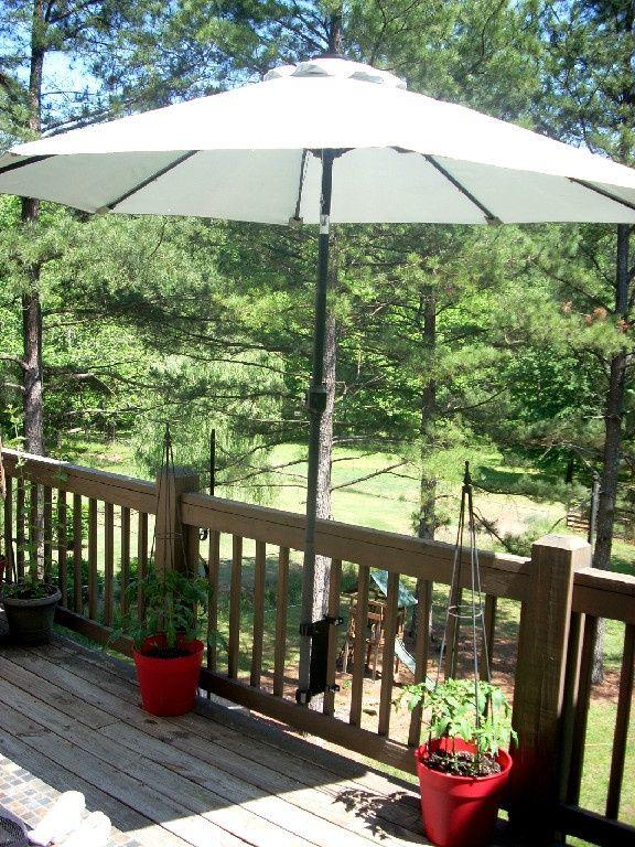 Umbrella mount for deck!!   Patio, Deck umbrella, Patio umbrell