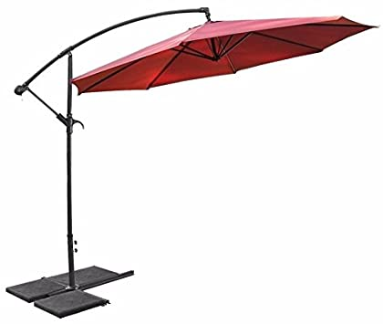 Amazon.com: Patio Outdoor Deck Umbrella 10ft Offset Hanging Canopy .
