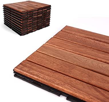 Deck Tiles - Patio Pavers - Acacia Wood Outdoor Flooring .