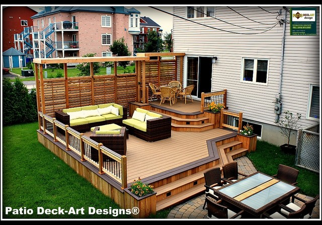 Outdoor Decks And Patios - Basement Ceiling Ide