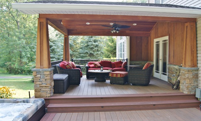 Outdoor Great Room with Awesome Covered Structure in Sparta, NJ .
