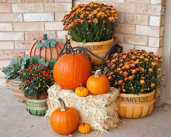 30 Eye-Catching Outdoor Thanksgiving Decorations Ideas | Mums in .