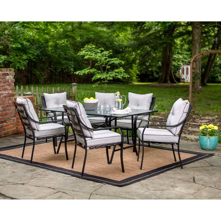 Hanover Lavallette 7-Piece Outdoor Dining Set in Gray - Walmart .