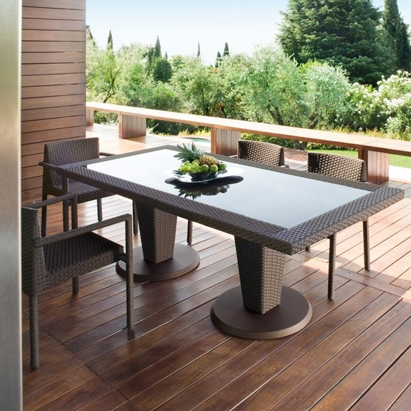 St Tropez Outdoor Wicker Dining Table and Chairs - Modern - Patio .