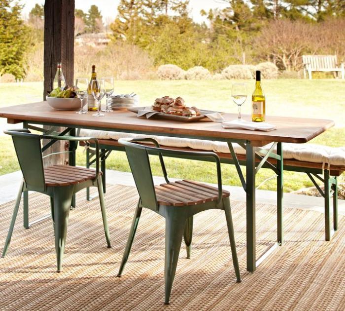5 Favorites: Folding Outdoor Dining Tables - Gardenis
