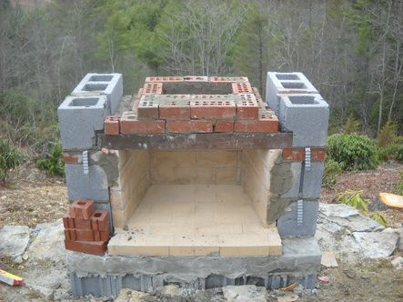 how to build outdoor fireplace | Building an outdoor fireplace .