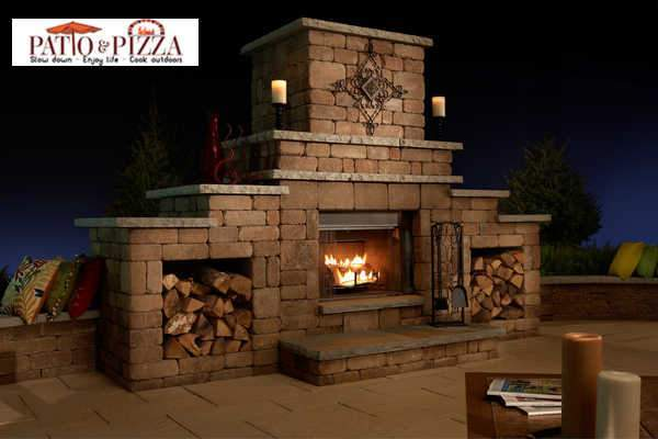 Outdoor Fireplace Kit | Rockwood Necessories Grand Firepla