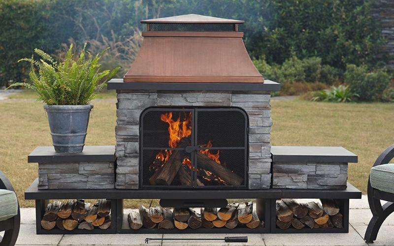 How to Choose an Outdoor Fireplace - The Home Dep