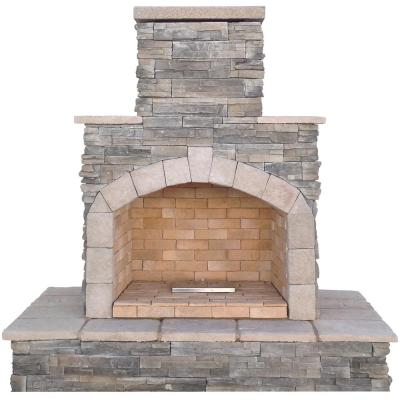Cal Flame 78 in. Propane Gas Outdoor Fireplace-FRP908-3-1 - The .