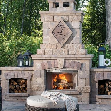 Outdoor Stone Fireplace & Kitchen Kits | Belgard Pave