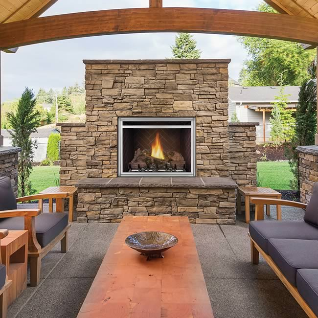 "Napoleon Riverside 36"" Clean Face Outdoor Fireplace 