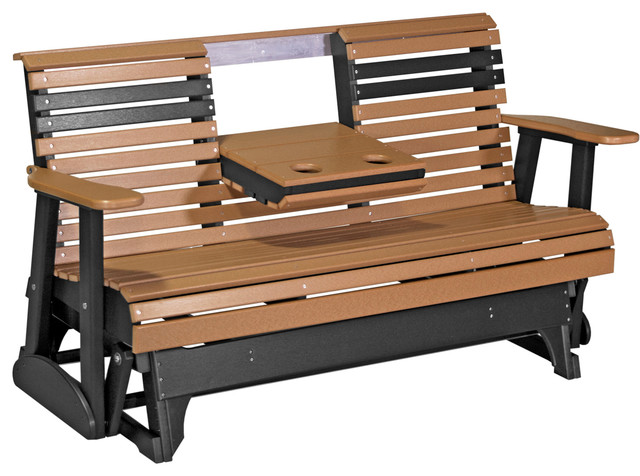 5' Poly Rollback Glider Bench - Transitional - Outdoor Gliders .