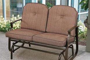 Amazon.com : Mainstays Wentworth Outdoor Glider Bench, Seats 2 .