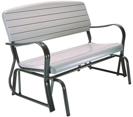Amazon.com : Lifetime 2871 Outdoor Glider Bench, 4 Foot, Putty .