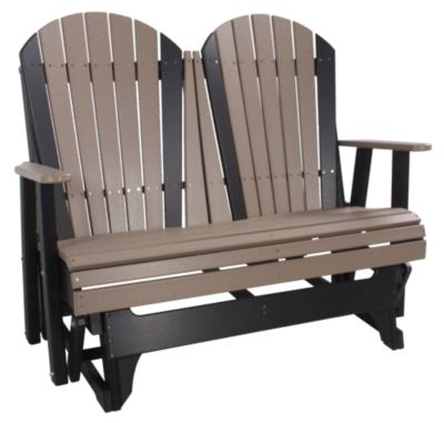 Amish Outdoors Deluxe Adirondack Outdoor Glider Loveseat .