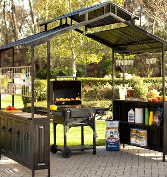 grill gazebo...want this! | Patio plans, Backyard grilling ar