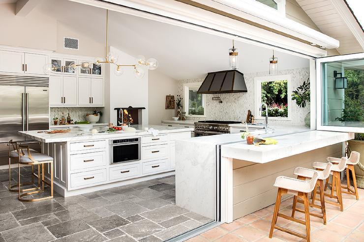 Indoor Outdoor Kitchen Design - Transitional - Kitch