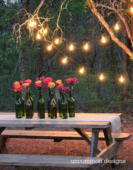 Easy Outdoor Party Lighting Ideas | Outdoor party lighting, Diy .