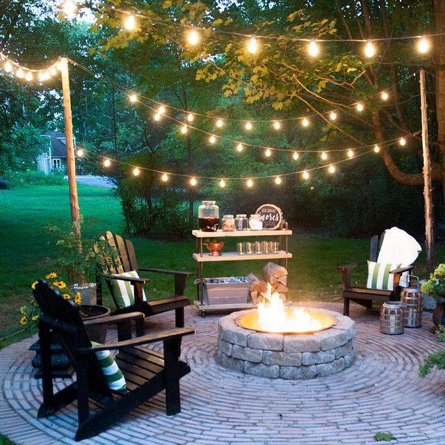 32 Backyard Lighting Ideas - How to Hang Outdoor String Ligh