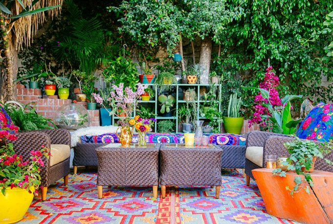 A Bohemian Outdoor Living Room - KO