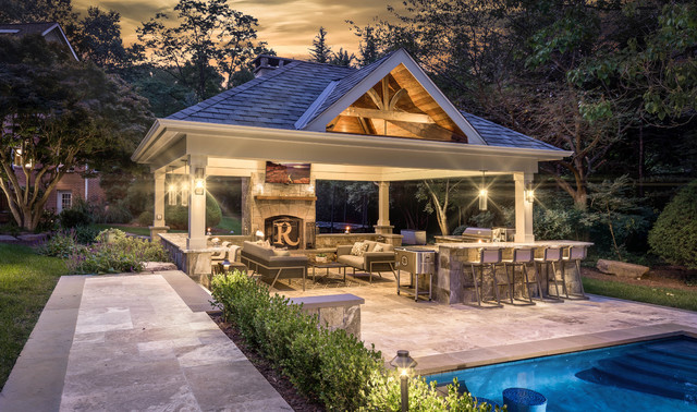 Traditional Style Outdoor Living Space - Traditional - Patio .