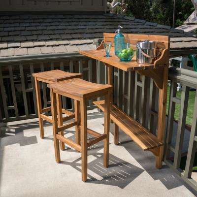 Natural Stained - Patio Bar Sets - Outdoor Bar Furniture - The .