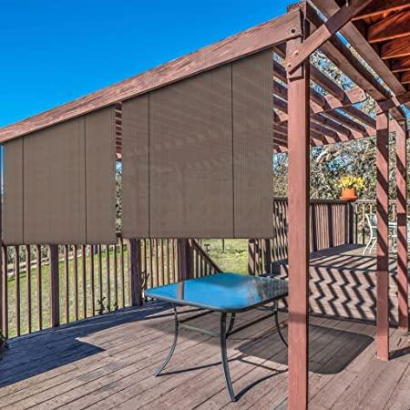 Amazon.com : Windscreen4less Exterior Roller Shade Outdoor Porch .