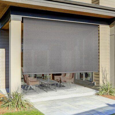 Symple Stuff Semi-Sheer Outdoor Roller Shade | Outdoor patio .