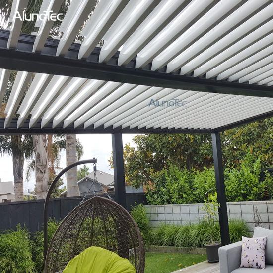 China Pergola Aluminum Patio Roof Design Waterproof Outdoor Blinds .