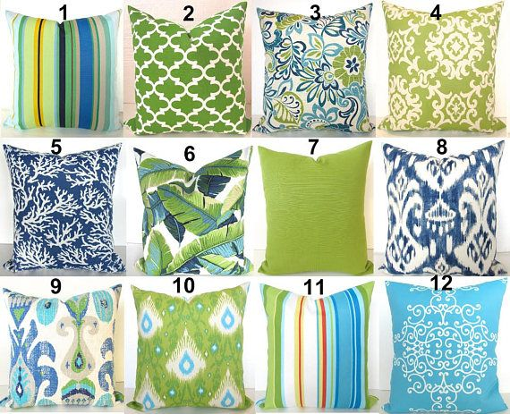 Green Outdoor Pillows Lime green Pillow Blue Outdoor Throw | Lime .