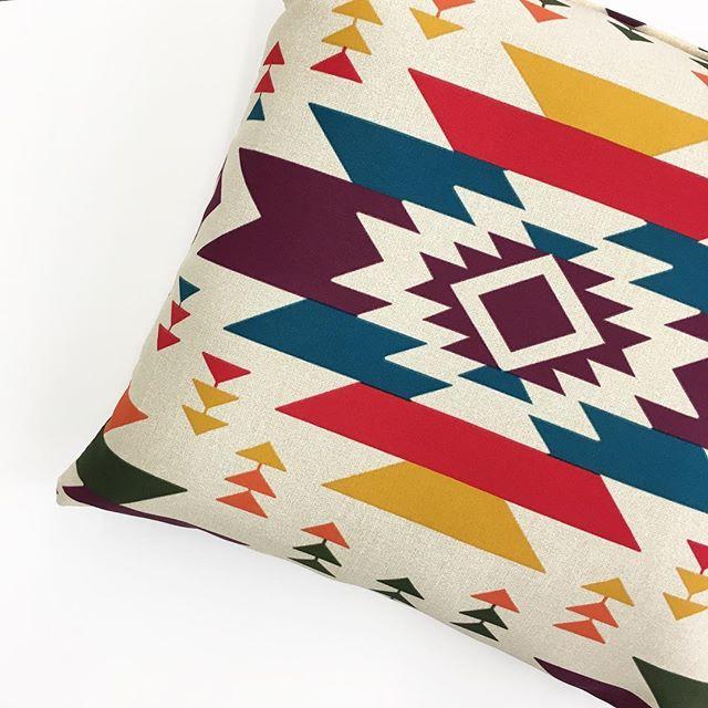 Mainstays Southwestern Outdoor Pillow - Walmart Fin