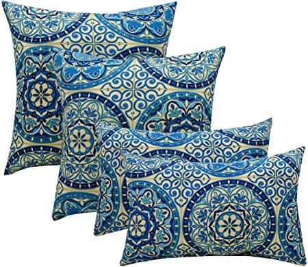 Amazon.com : Resort Spa Home Set of 4 Indoor/Outdoor Pillows - 20 .