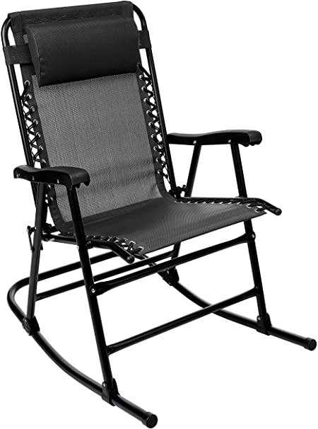 Amazon.com : AmazonBasics Foldable Rocking Chair - Black : Garden .