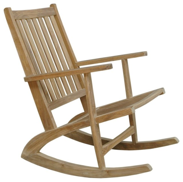 Modern Rocking Armchair - Transitional - Outdoor Rocking Chairs .