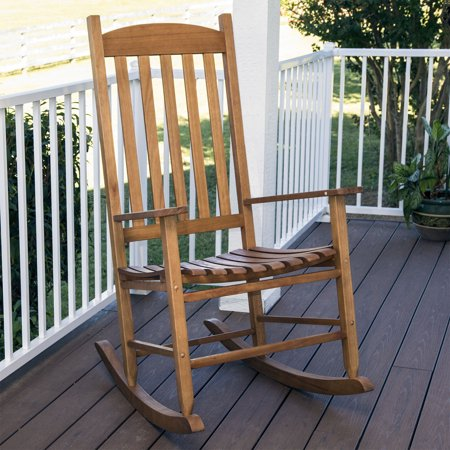 Mainstays Outdoor Wood Slat Rocking Chair - Walmart.com - Walmart.c