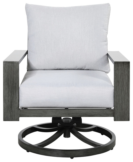Emerald Home Rockport Swivel Rocker Chair - Transitional - Outdoor .