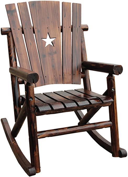 Amazon.com : Char-Log Single Rocker with Star : Patio Rocking .