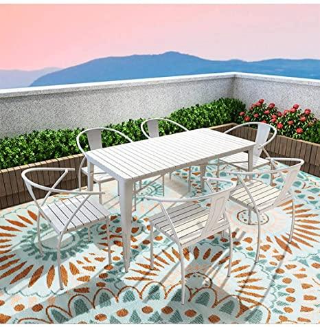 Amazon.com : SMM005 Reversible Indoor/Outdoor Rugs-(Blue,8x10 .
